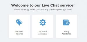 pop up live chat siteground