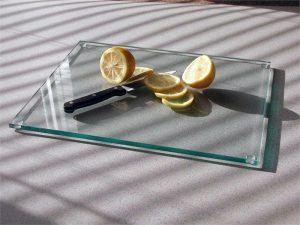 glazen snijplank